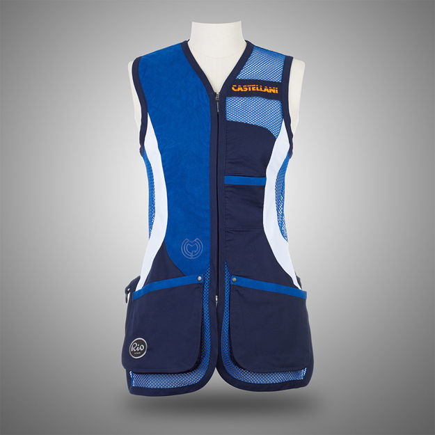 Picture of CASTELLANI WOMENS RIO MESH ALCANTARA VEST 025-156